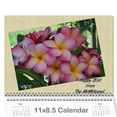 Christmas Calendar 2011 By Alison Mcwilliams   Wall Calendar 11  X 8 5  (12 Months)   9y4qv4a7hvk5   Www Artscow Com Cover
