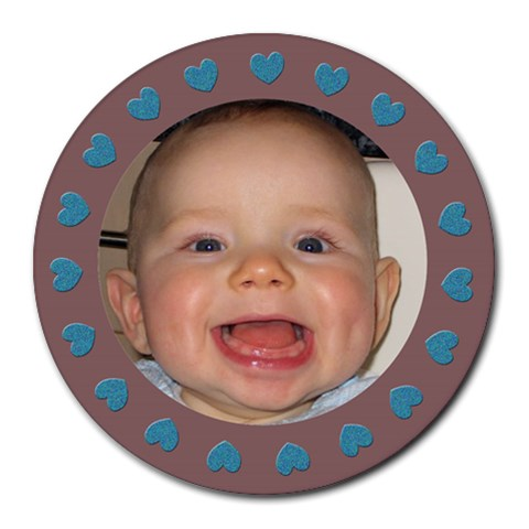 Baby Boy  Mousepad By Carmensita   Collage Round Mousepad   8q7kjzezpm9p   Www Artscow Com 8 x8 Round Mousepad - 1
