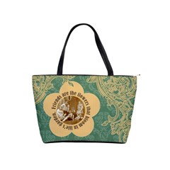 Friends Are The Flowers Classic Shoulder Handbag By Klh   Classic Shoulder Handbag   Tpa5u714pwvh   Www Artscow Com Front