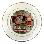 Santa Brought Us the BEST Present in 2010 plaid Decorative Plate - Porcelain Plate