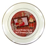 Santa Brought Us the BEST Present in 2010 blue girl Decorative Plate - Porcelain Plate