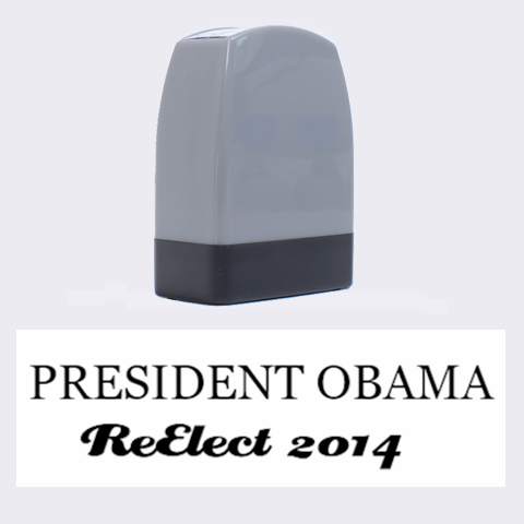 Reelect Our President By Demetria White   Name Stamp   2pe2eyuewthq   Www Artscow Com 1.4 x0.5  Stamp