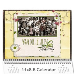 2011 Family Calendar By Lor   Wall Calendar 11  X 8 5  (12 Months)   Vb1in4ff87xe   Www Artscow Com Cover