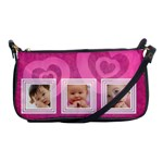 Pink hearts - Shoulder Clutch Bag