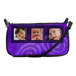 Purple circles - Shoulder Clutch Bag
