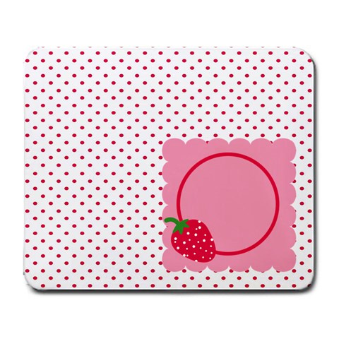 Strawberries Mousepad 01 By Carol   Large Mousepad   Htxcr6kl3zs3   Www Artscow Com Front
