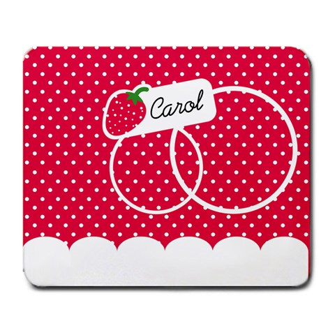 Strawberries Mousepad 02 By Carol   Large Mousepad   Kb64ef8o2y6r   Www Artscow Com Front