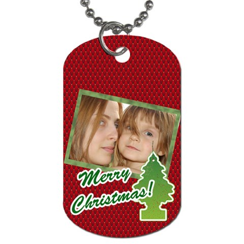 Christmas By Wood Johnson   Dog Tag (one Side)   K5lrukys9rhr   Www Artscow Com Front