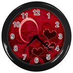 I Heart You Red Love Wall Clock - Wall Clock (Black)