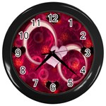 I Heart You pink Love Wall Clock - Wall Clock (Black)