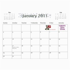 Kristi s Calendar Two By Anna Marie   Wall Calendar 11  X 8 5  (12 Months)   Sxg194cbkxte   Www Artscow Com Jan 2011