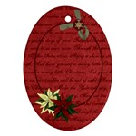 Holly Jolly Poinsettia - Ornament (Oval)