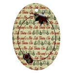 Holly Jolly Buttons - Ornament (Oval)