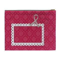 Breast Cancer Awareness Cosmetic Bag Xl By Mikki   Cosmetic Bag (xl)   Wzi0btj0ef6h   Www Artscow Com Back