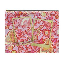 Bright Paisley Cosmetic Bag Xl By Mikki   Cosmetic Bag (xl)   Ibmezi3eznf0   Www Artscow Com Front
