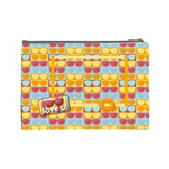 Summer Cosmetic Bag L By Mikki   Cosmetic Bag (large)   Z6w9e0rj7uci   Www Artscow Com Back