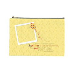 Happiness Cosmetic Bag L By Mikki   Cosmetic Bag (large)   00k6qmabn393   Www Artscow Com Front