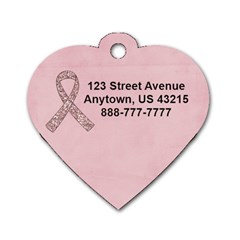Breast Cancer Awareness Heart Dog Tag By Mikki   Dog Tag Heart (two Sides)   Wlnso9gum006   Www Artscow Com Back