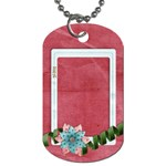 Flower Frame Dog Tag-1 side - Dog Tag (One Side)