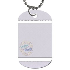 Laughter & Happiness Dog Tag 2 Sides By Mikki   Dog Tag (two Sides)   80uk9yv5r9n1   Www Artscow Com Front