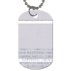 Laughter & Happiness Dog Tag 2 Sides By Mikki   Dog Tag (two Sides)   80uk9yv5r9n1   Www Artscow Com Back