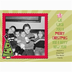 Fun Christmas Card 3 By Martha Meier   5  X 7  Photo Cards   Zvw4z36mc0as   Www Artscow Com 7 x5 Photo Card - 5