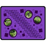live laugh love purple bubbles extra large fleece blanket 2 - Fleece Blanket (Large)