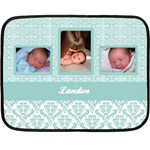 Simply Charming Blue Mini Fleece Blanket - Fleece Blanket (Mini)