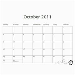 Lambourne Calendar By V    Wall Calendar 11  X 8 5  (12 Months)   4mvzbb5ztto9   Www Artscow Com Oct 2011