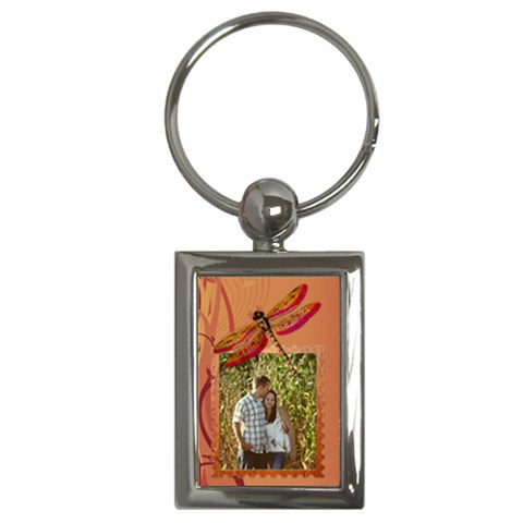 Dragonfly Keychain By Lil    Key Chain (rectangle)   Tufpshnxazsq   Www Artscow Com Front