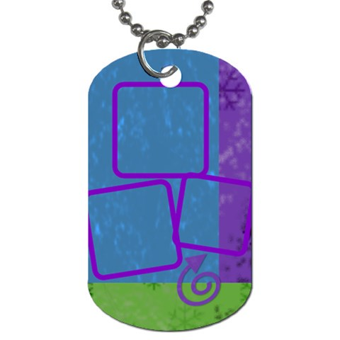 Snowdays Tag By Amanda Bunn   Dog Tag (one Side)   8zb5eaz8qo80   Www Artscow Com Front