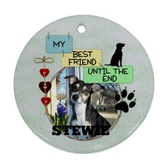 Dog Remembrance 2 Sided Ornament By Lil    Round Ornament (two Sides)   O9icf56fd7m2   Www Artscow Com Front