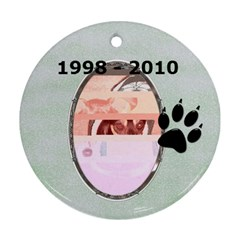 Dog Remembrance 2 Sided Ornament By Lil    Round Ornament (two Sides)   O9icf56fd7m2   Www Artscow Com Back
