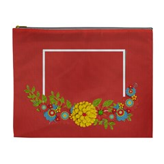 Cosmetic Bag (xl)  Template Red By Jennyl   Cosmetic Bag (xl)   96ovif4418vq   Www Artscow Com Front
