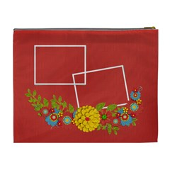 Cosmetic Bag (xl)  Template Red By Jennyl   Cosmetic Bag (xl)   96ovif4418vq   Www Artscow Com Back