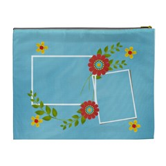 Cosmetic Bag (xl)  Template Flowers3 By Jennyl   Cosmetic Bag (xl)   Ci4a0h152kw9   Www Artscow Com Back