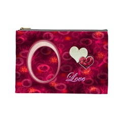 I Heart You Love  Large Cosmetic Bag By Ellan   Cosmetic Bag (large)   Qv1xcuko53tx   Www Artscow Com Front