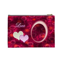 I Heart You Love  Large Cosmetic Bag By Ellan   Cosmetic Bag (large)   Qv1xcuko53tx   Www Artscow Com Back