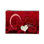 I heart you Love Red  Large Cosmetic Bag - Cosmetic Bag (Large)