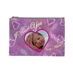 I heart you Love Lavender purple Large Cosmetic Bag - Cosmetic Bag (Large)