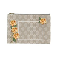 Cosmetic Bag (large)  Yellow Flowers By Jennyl   Cosmetic Bag (large)   6fmt48cn7hd0   Www Artscow Com Front