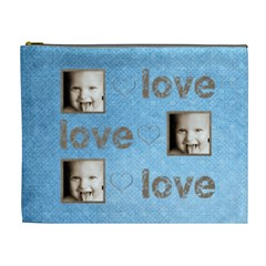 Love, Love, Love Extra Large Cosmetic Bag By Catvinnat   Cosmetic Bag (xl)   Irc7q9d1j7d4   Www Artscow Com Front