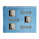 love, love, love extra large cosmetic bag - Cosmetic Bag (XL)