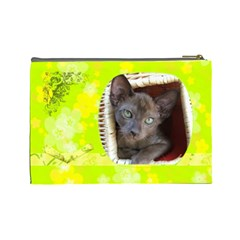 Lime Juice Large Cosmetic Case 1 By Joan T   Cosmetic Bag (large)   C5jw0q4c1sd1   Www Artscow Com Back
