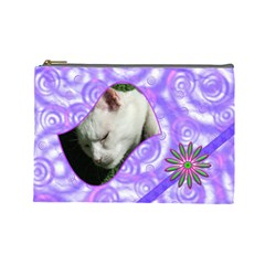 Madame Butterfly Large Cosmetic Case 1 By Joan T   Cosmetic Bag (large)   Iycmf6eg4iya   Www Artscow Com Front