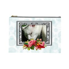 Crochet Large Cosmetic Case By Joan T   Cosmetic Bag (large)   H17qf2i89do1   Www Artscow Com Front