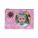Pink Daisy Large Cosmetic Case 2 - Cosmetic Bag (Large)
