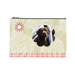 Gentle Times Large Cosmetic Case 1 By Joan T   Cosmetic Bag (large)   Q79gygh5avts   Www Artscow Com Front