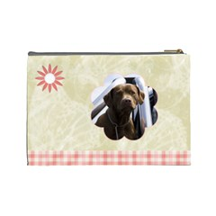Gentle Times Large Cosmetic Case 1 By Joan T   Cosmetic Bag (large)   Q79gygh5avts   Www Artscow Com Back