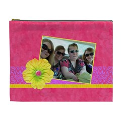 Pink Lemonade Xl Cosmetic Bag By Klh   Cosmetic Bag (xl)   Le5ilpy2evtm   Www Artscow Com Front